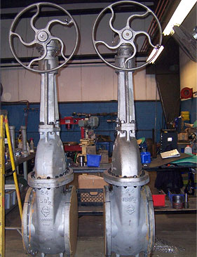 24 Gate Valves After Refurbishment